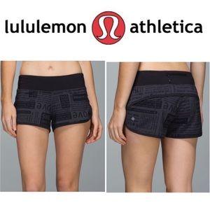 Lululemon Speed Up Short Manifesto Coal Black